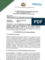 Declaración Constitucional Plurinacional 0007 / 2014
