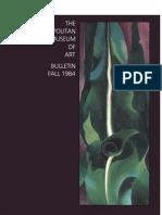 Georgia O Keeffe the Metropolitan Museum of Art Bulletin v 42 No 2 Fall 1984