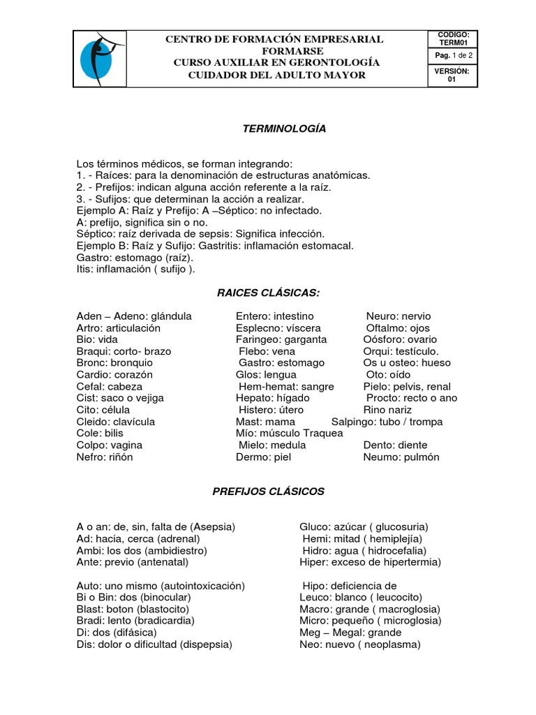 Bonito Anatomía Y Fisiología Prefijos Y Sufijos Lista Ornamento ...