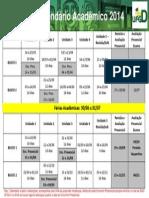 Calendário Acadêmico Atual 2