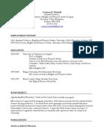 Courtney D. Marshall's CV