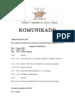 Komunikado 24 Di Aprel 2014