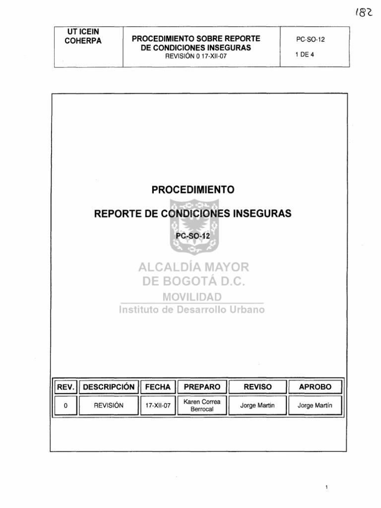 Procedimiento de Reporte de Ai y Ci