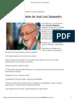 Diez Frases Geniales de José Luis Sampedro
