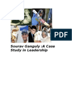 Leadership Case Study on Saurav Ganguly