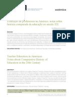 Formação de Professores Na América - Notas Sobre História Comparada Da Educação No Século XX