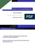 (Lect02) - Demarcating science vis-à-vis pseudoscience