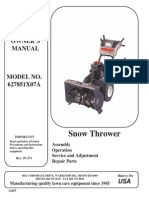 SWISHER 627851X07A Snow Thrower Owner's Manual