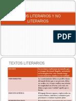 Textos Literarios y No Literarios ESQUEMA