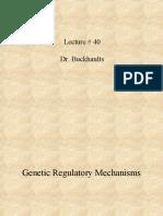 Lecture # 40 Dr. Buckhaults