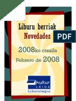 2008ko Otsaileko liburu berriak -- Boletín de novedades de febrero 2008