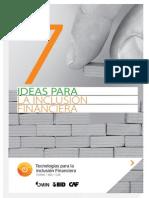 7 Ideas Para Inlusion Financiera
