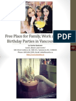 Free Place for Family Work and Kid Birthday Parties in Vancouver British Columbia