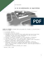 Arq-da-conteúdo Dos Planos de Um Projeto de Arquitetura