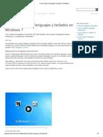 Como cambiar de lenguajes y teclados en Windows 7.pdf
