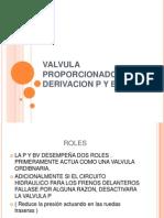 Valvula Proporcionadora de Derivacion p y Bv