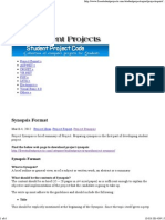 Synopsis Format _ Free Student Projects
