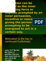 Motivation Can Be Defined as the Inner Propelling Force Or