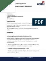 Manual de Uso de La Estacion Total