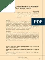 Natureza Pensamento e Política - Edson Passetti