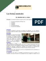 Gregoriano - Las Formas Musicales