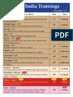 net india training schedule october2013