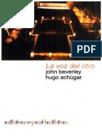 265 Pags La Voz Del Otro Testimonio Subalternidad y Verdad Narrativa