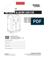 Lincoln AC 225 and AC/DC 225/125 operators manual