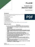 Fluke T5-600 / T5-1000 Electrical Tester Service Information
