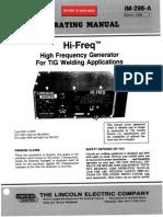 Lincoln Hi - Freq Operating Manual