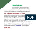 Top 15 Garden Plants for Kerala