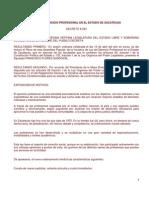 Ley Profesiones Estado Zacatecas