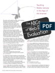 the abcs of website evauluation