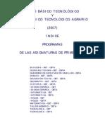 Programas 1ero Cbtycbta 2007 Dos