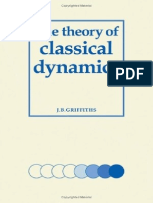 The Theory of Classical Dynamics, Griffiths pdf | Classical