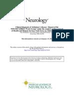 Clinical diagnosis of Alzheimer's disease (1984, Neurology)