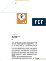 1 CLAT Entrance Exam Previous Year Question Paper CLAT 2012