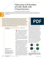 Controlled Fabrication of Polyaniline Spherical and Cubic Shells with Hierarchical Nanostructures