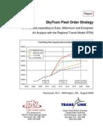 RTM Phase B SkyTrain Fleet Order Strategy