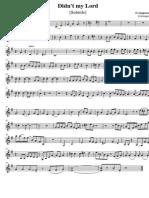 Didn't My Lord - Violin 2