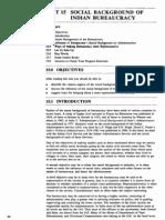 Public Administration Unit-84 Social Background of Indian Bureaucracy