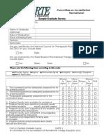Form 10 Sample Graduate Survey