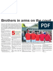 Brothers in arms on the court (Southern View, March 17, 2014)