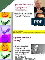 Críticas ao conceito de opinião pública (Bourdieu e Patrick Champagne)
