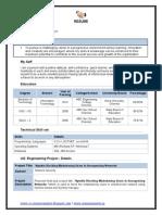 Information Technology CV Template Download