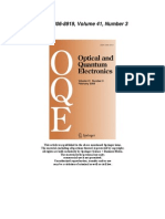 Opt Quant Electron Vo. 41,No.3,2009