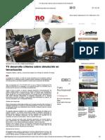 TC Desarrolla Criterios Sobre Simulación en Tercerización