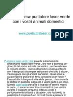 Giocare 1mw Puntatore Laser Verde Con i Vostri Animali Domestici
