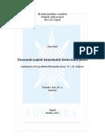 Ekonomski Pogledi Dalmatinskih Fiziokratskih Pisaca