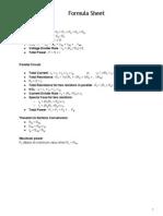 FormulaSheet Electrical